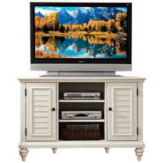 Bermuda Brushed White Corner TV Stand