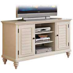 Bermuda Brushed White TV Credenza