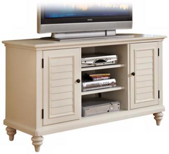 Bermuda Brushed White TV Credenza (W3384)