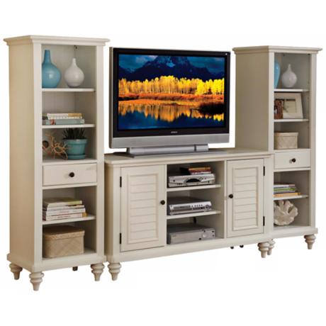 Bermuda 3-Piece Brushed White Entertainment Center