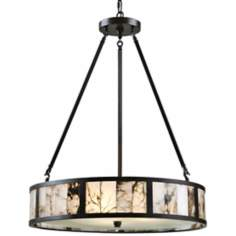 "Uttermost Coslada Marble 24"" Wide Oil-Rubbed Bronze Pendant"