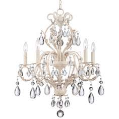"Kathy Ireland Amelia 24 3/4"" Wide White Crystal Chandelier"