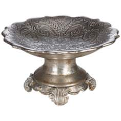 Antique Silver Pedestal Bowl
