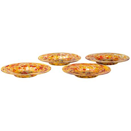 Set of 4 Inferno Spanish Glass Plates