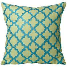 Lime Green Moroccan Pillow
