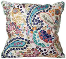 "Colorful Paisley 18"" Square Decorative Accent Pillow"