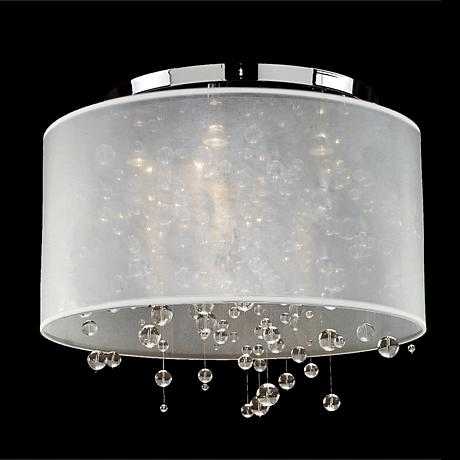 Silhouette 6-Light Sheer Organza Shade Ceiling Light