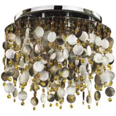 "Midnight Pearl Topaz Crystal 17 1/2"" Wide Ceiling Light"