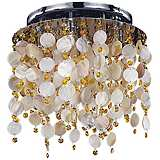 "Seaside Dreams Topaz Crystal 14 1/2"" Wide Ceiling Light"