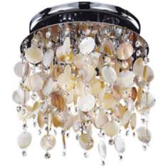 "Seaside Dreams Clear Crystal 11 1/2"" Wide Ceiling Light"