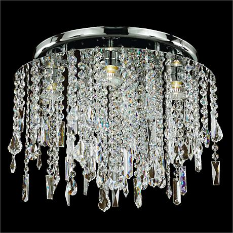 "Divine Ice 17 1/2"" Wide Crystal Ceiling Light"
