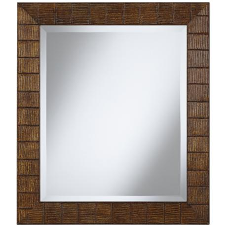 "Wood Ripple 29 1/2"" High Rectangular Wall Mirror"