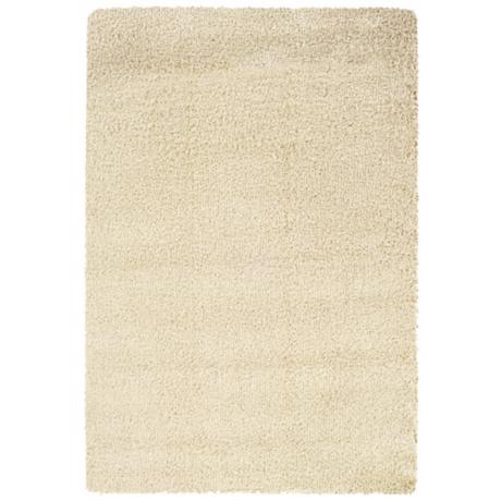 Soho Collection Ivory Shag Area Rug
