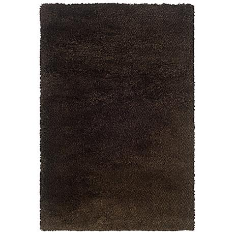 Soho Collection Brown/Black Shag Area Rug
