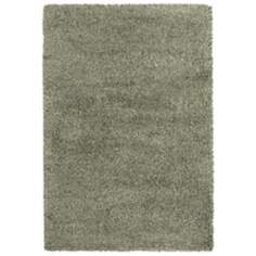 Soho Collection Blue/Ivory Shag Area Rug