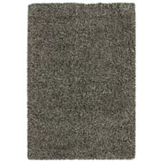 Soho Collection Black/Ivory Shag Area Rug