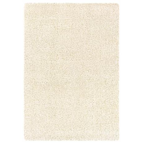 Waves Collection Ivory Shag Area Rug