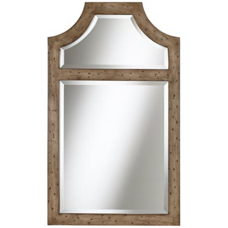 "Squared Arch 37"" High Distressed Wall Mirror"