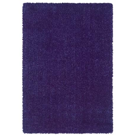 Waves Collection Blue Shag Area Rug