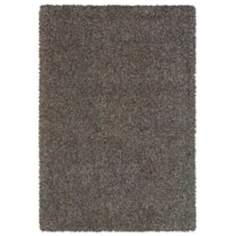 Waves Collection Brown/Blue Shag Area Rug