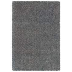 Waves Collection Grey Shag Area Rug