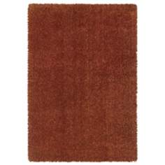 Waves Collection Rust Shag Area Rug