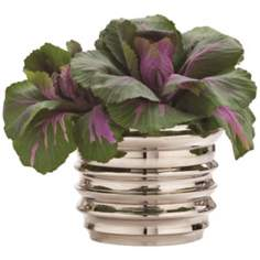 Arteriors Home Nickel Small Waterfall Pillar Candle Holder