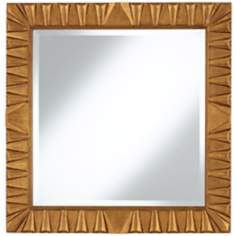 "Coba Antique Gold Carved-Look 30"" Square Wall Mirror"