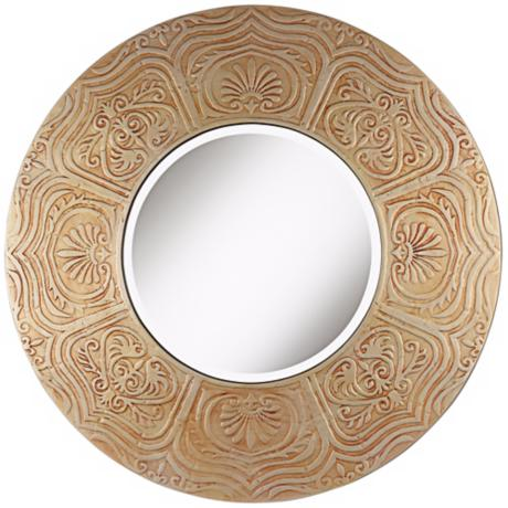 "Timur 31 3/4"" Round Gold Wall Mirror"