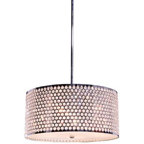 "Artcraft Concentrix 24"" Wide Chrome Pendant Light"
