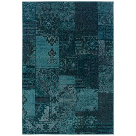 Oriental Weavers Revival 501G Aqua Area Rug