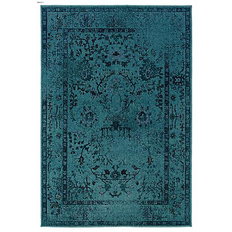 Oriental Weavers Revival 550H Aqua Area Rug