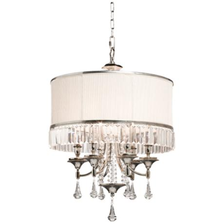 "Artcraft Newcastle 22 1/4"" Wide Crystal Chandelier"