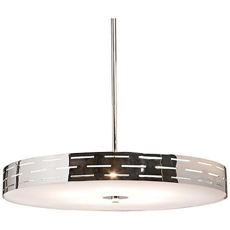 "Artcraft Seattle 16"" Wide Chrome Pendant Light"
