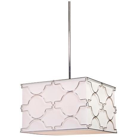 "Artcraft Morocco 16"" Wide Chrome Pendant Light"