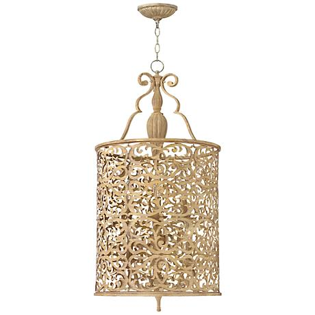 "Fredrick Ramond Carabel 6-Light 18"" Wide Champagne Pendant"