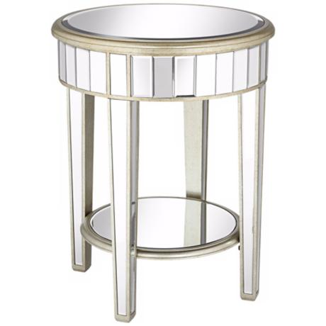 Valerie Mirrored End Table