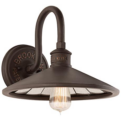 "Brooklyn 12"" Wide Bronze Wall Sconce"