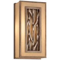 "Serengeti Square 6 1/2"" Wide Bronze Leaf Wall Sconce"