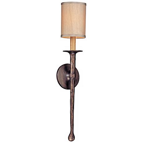 "Faulkner 24"" High Pompeii Bronze Wall Sconce"