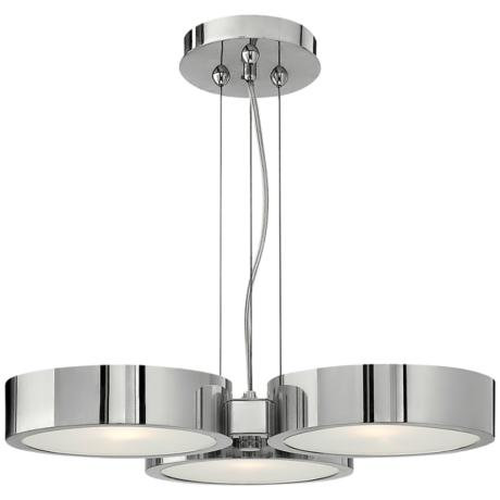 "Fredrick Ramond Broadway 18 3/4"" Wide Aluminum Disc Pendant"