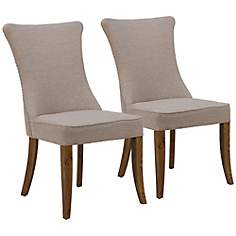 Set of 2 Jillian Light Oak Dining Chairs