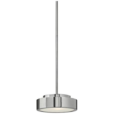 "Fredrick Ramond Broadway 8"" Wide Aluminum Disc Pendant"