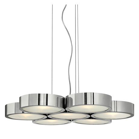 "Fredrick Ramond Broadway 24 1/4"" Aluminum Disc Chandelier"