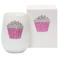 Iced Cupcake Icon Candle