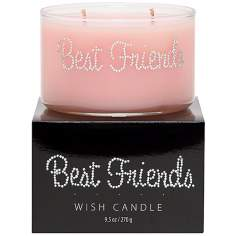 Best Friends Hand-Jeweled Wish Candle