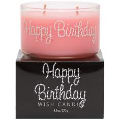 Happy Birthday Hand-Jeweled Wish Candle