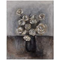 "Midnight Bouquet II 30"" High Gallery Wrap Floral Wall Art"