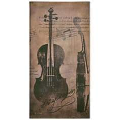 "Viola 40"" High Musical Wall Art"