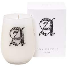 "Letter ""A"" Fragrant Monogram Stemless Wine Glass Candle"